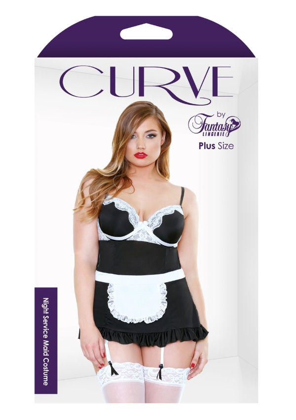 Night Service Maid Costume - Plus Size Image 2