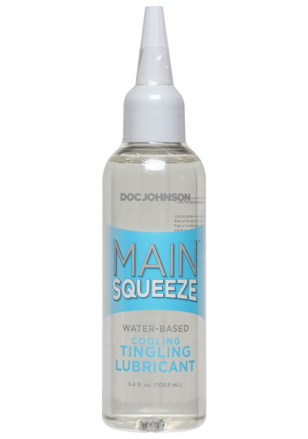 Main Squeeze™ Cooling/Tingling Water-Based Lubricant