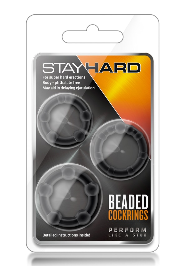 Stay Hard - Beaded Cock Rings Image 1