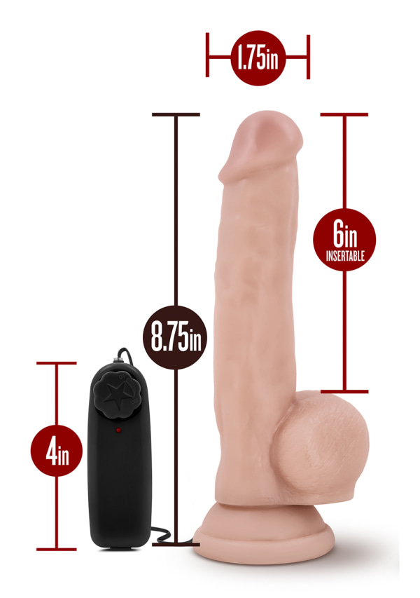 "Dr. Skin - Dr. Jay - 8.75"" Vibrating Cock with Suction Cup Image 6"