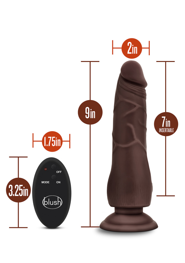 "Dr. Skin - 9"" 10 Function Wireless Remote Dildo Image 4"
