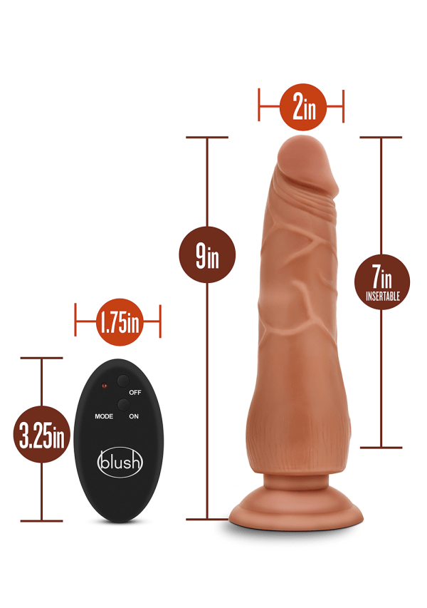 "Dr. Skin - 9"" 10 Function Wireless Remote Dildo Image 1"