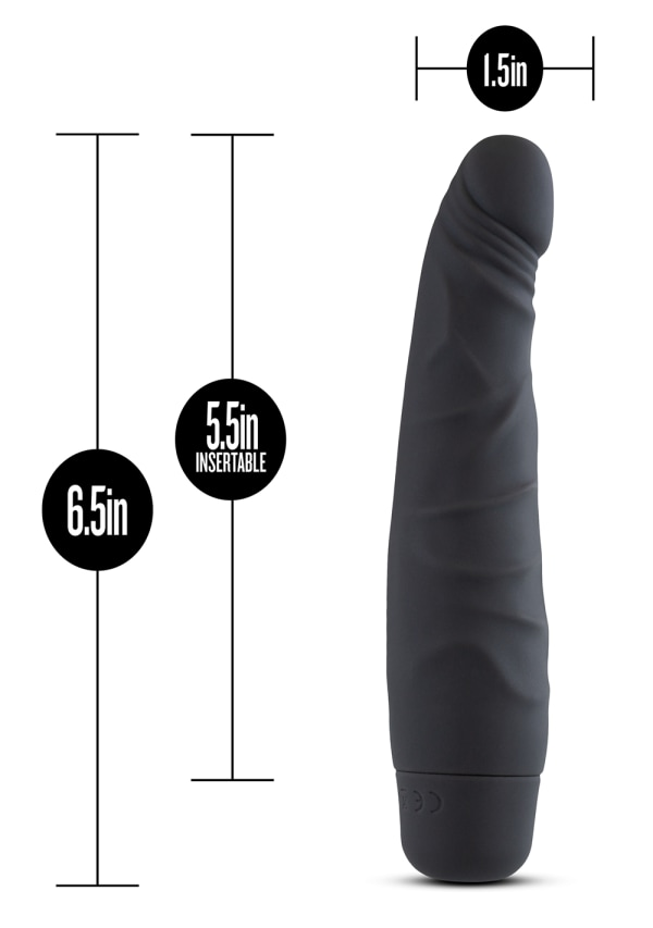"Silicone Willy's - Slim - 6.5"" Vibrating Dildo Image 3"
