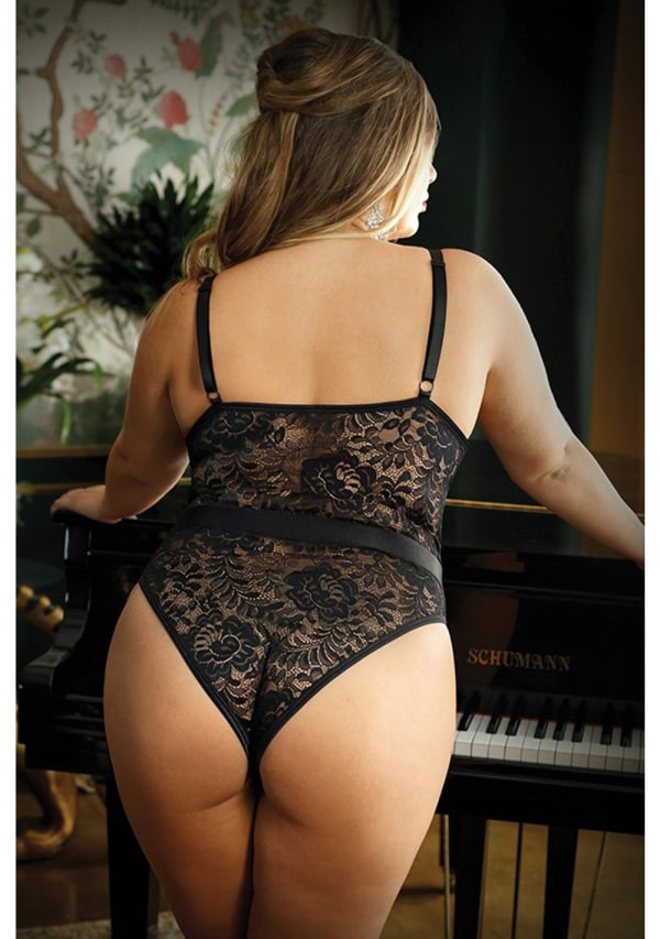 Moonlight Caged Teddy - Plus Size Image 1