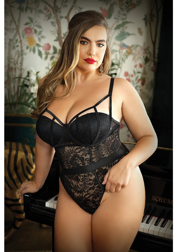 Moonlight Caged Teddy - Plus Size Image 0