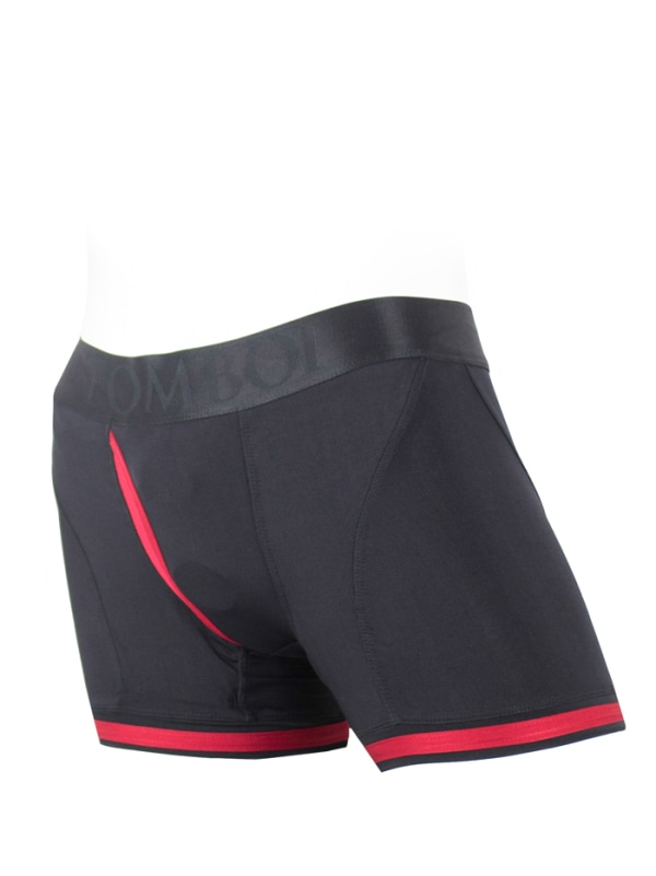 Tomboii Fabric Boxer Brief Harness Red Image 1