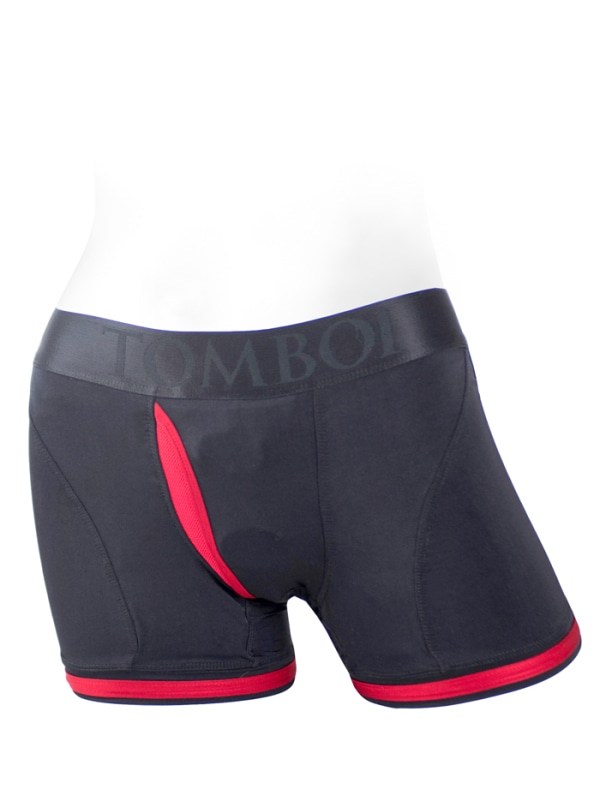 Tomboii Fabric Boxer Brief Harness Red Image 0