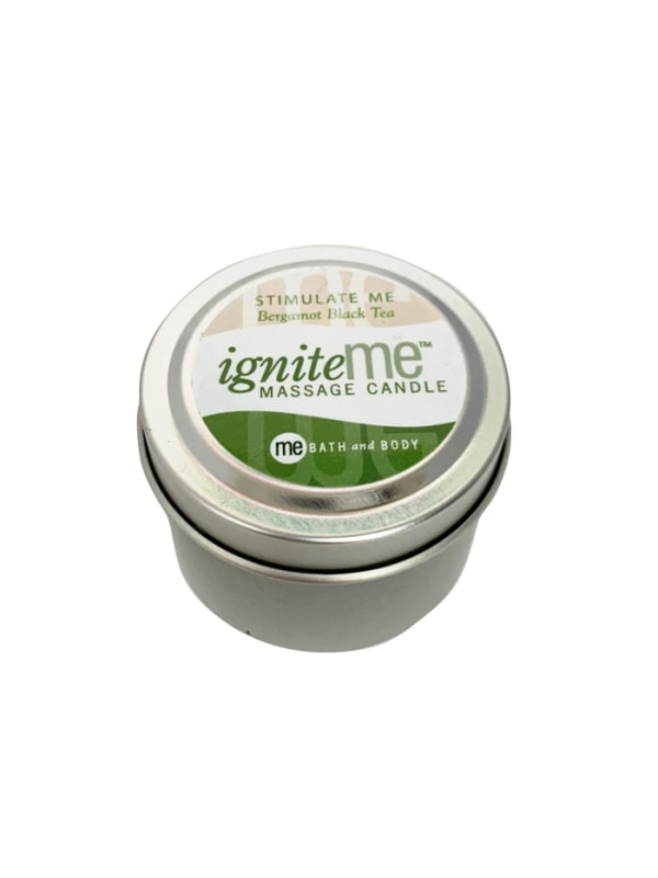 Ignite Me Massage Candle Stimulate Me (Bergamot Black Tea) Image 1