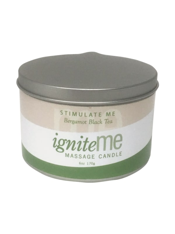 Ignite Me Massage Candle Stimulate Me (Bergamot Black Tea) Image 0