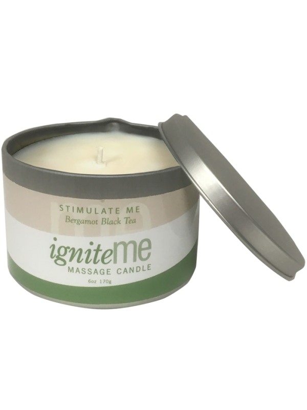 Ignite Me Massage Candle Stimulate Me (Bergamot Black Tea) Image 2