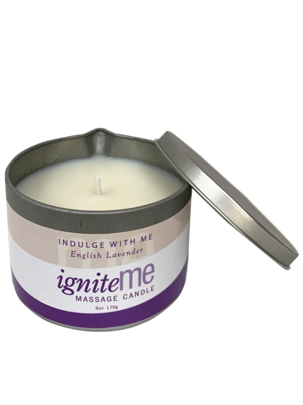 Ignite Me Massage Candle Indulge With Me (English Lavender) Image 2