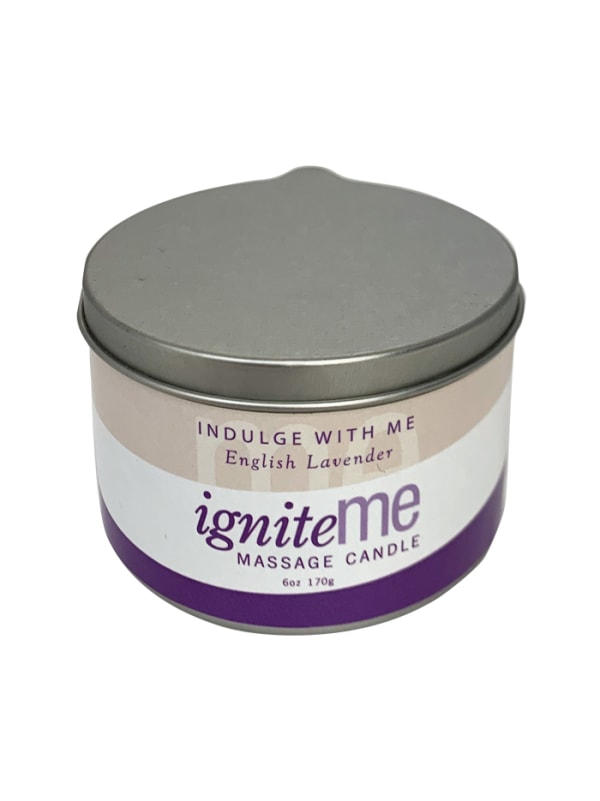 Ignite Me Massage Candle Indulge With Me (English Lavender) Image 0