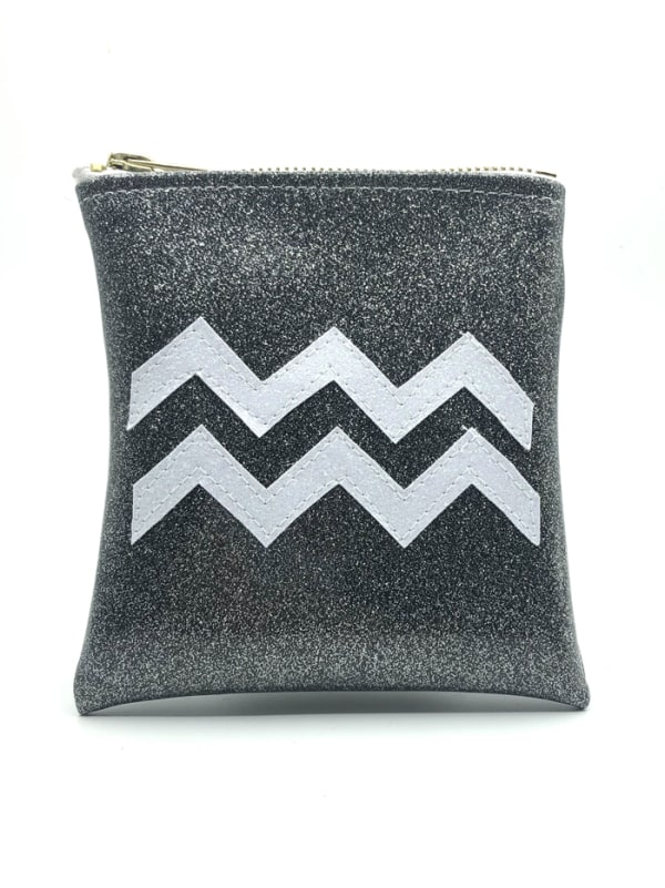 Aquarius Astrology Mini Clutch Image 0