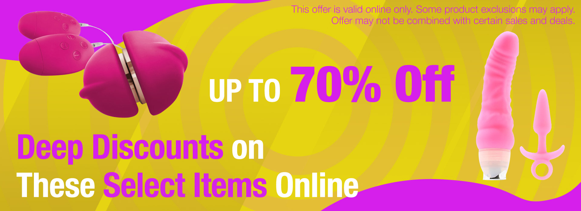 Up to 70% Off Select Products Online