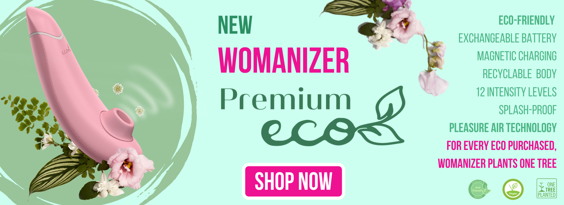 Womanizer Premium Eco now available at Babeland.com!