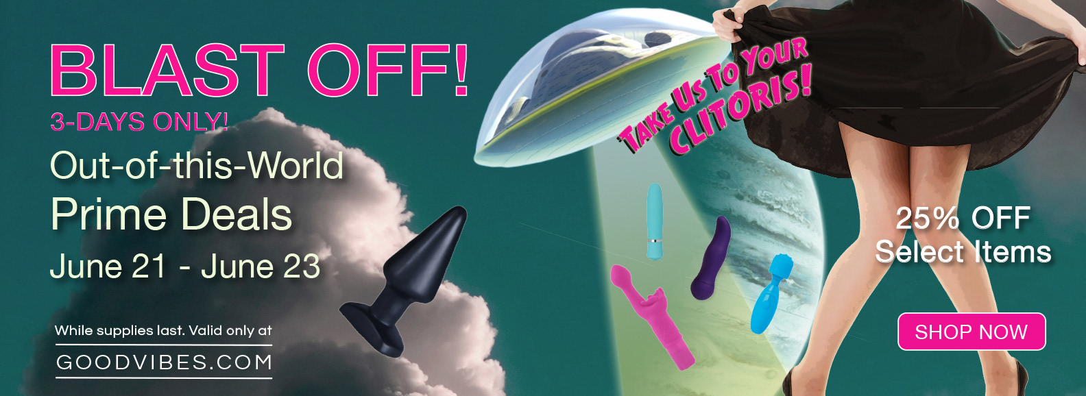 Blast Off Sale 25% Off Select Items