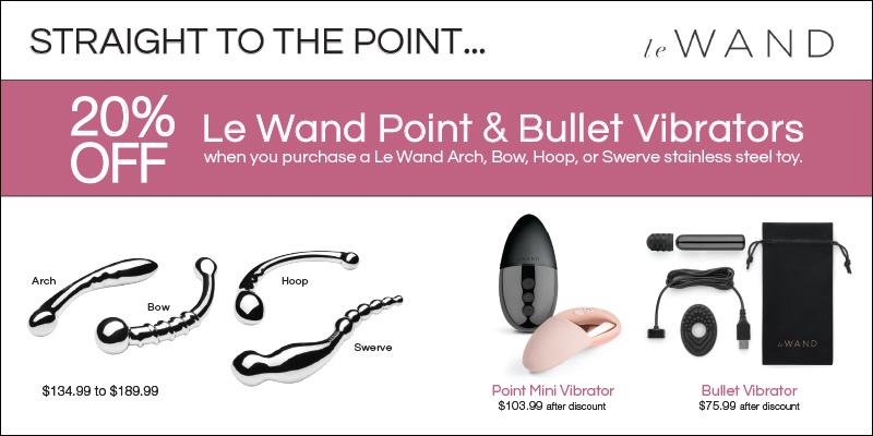 20% Off Le Wand Point & Bullet Vibrators