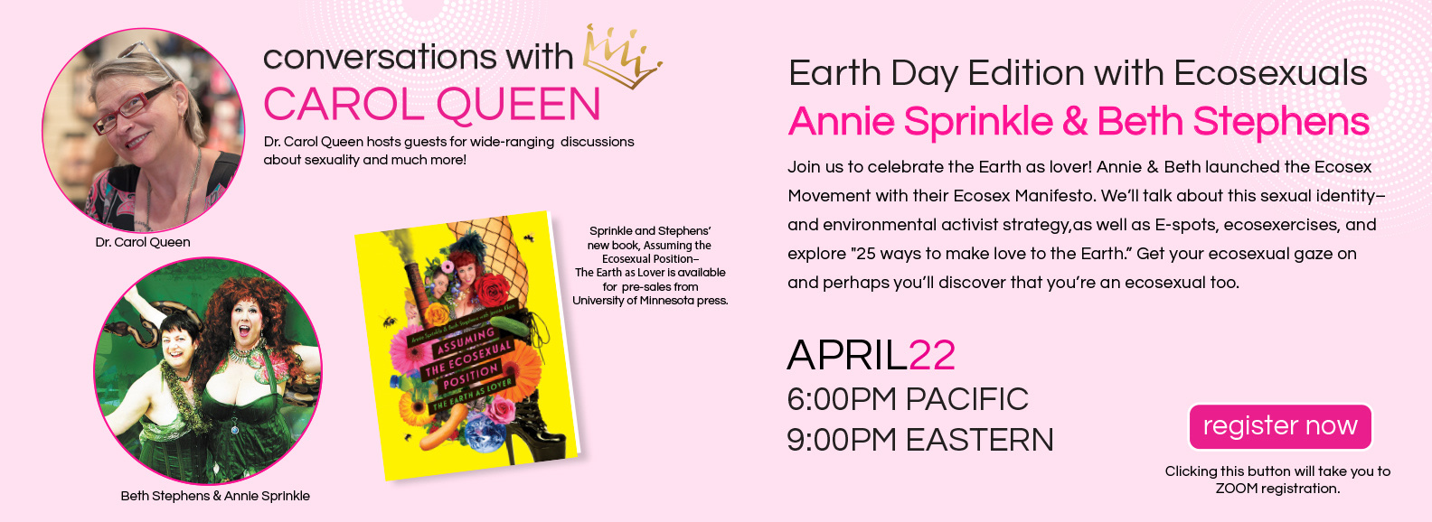 Earth Day Virtual Event with Dr. Carol Queen
