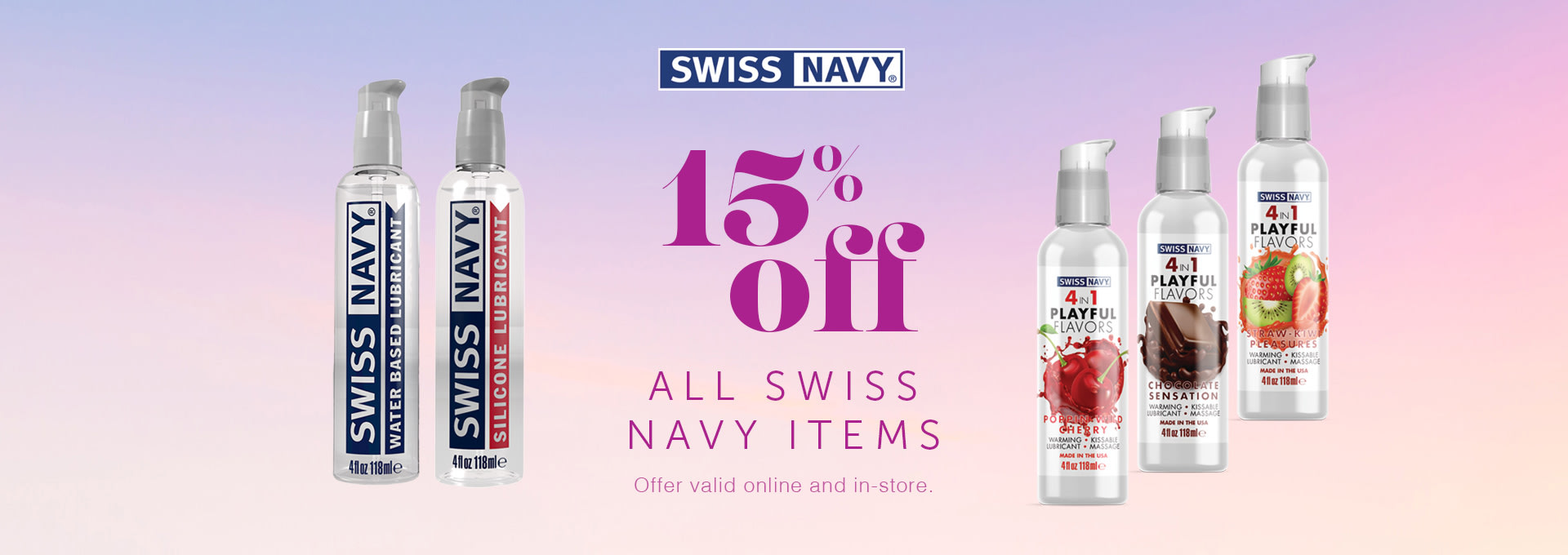 15% OFF All Swiss Navy Products