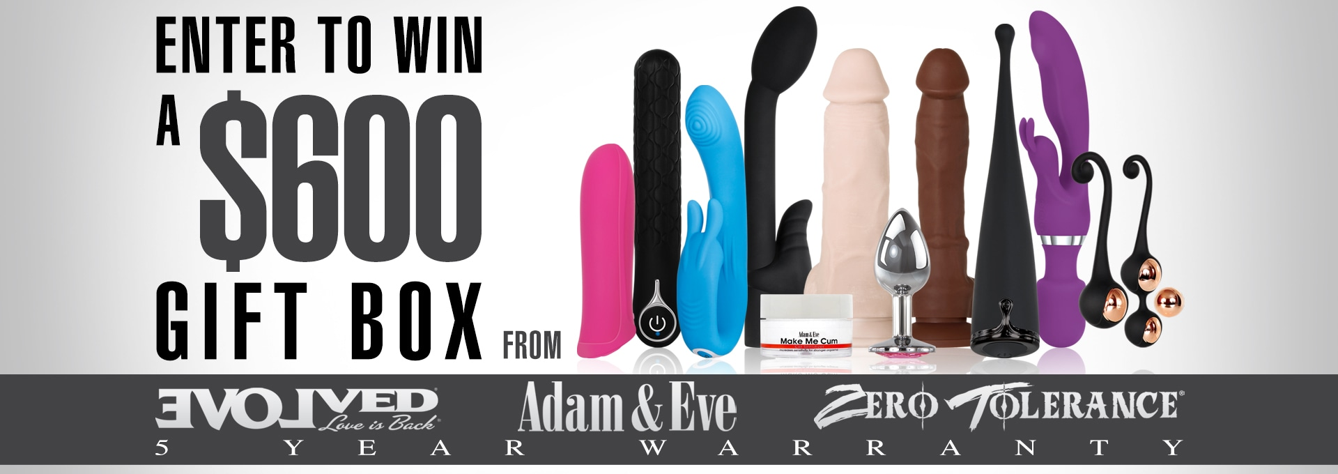 WIN a $600 Gift Box From Evolved Novelties Valid now through May 12th