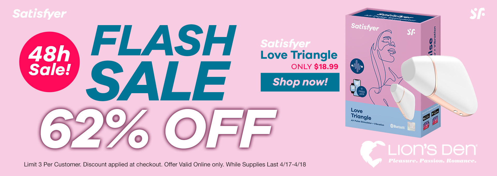 62% OFF Love Triangle by Satisfyer