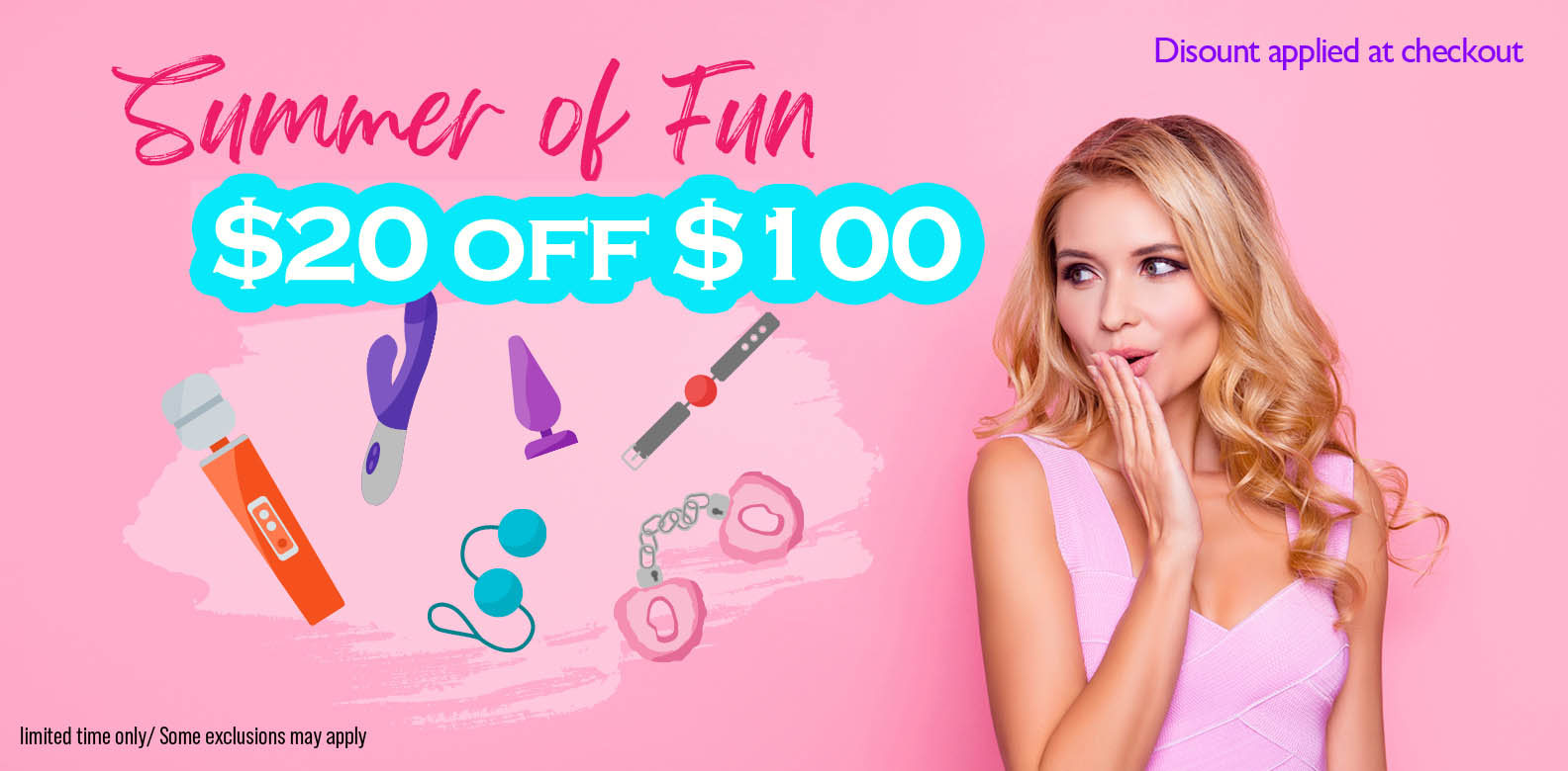 Summer of Fun $20 off $100 or more