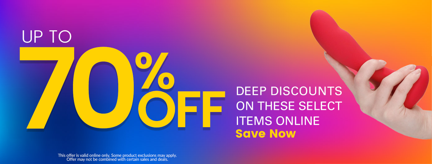 Deep Discount Up to 70% Off - This offer is valid online only. Some product exclusions may apply. Offer may not be combined with certain sales and deals.