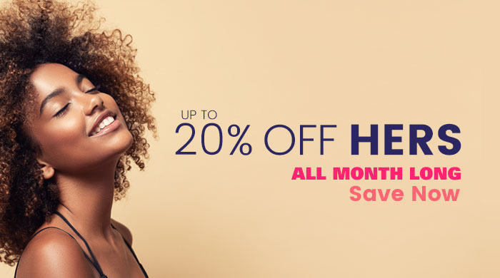 Up to 20% Off Hers, Save now, some exclusion may apply