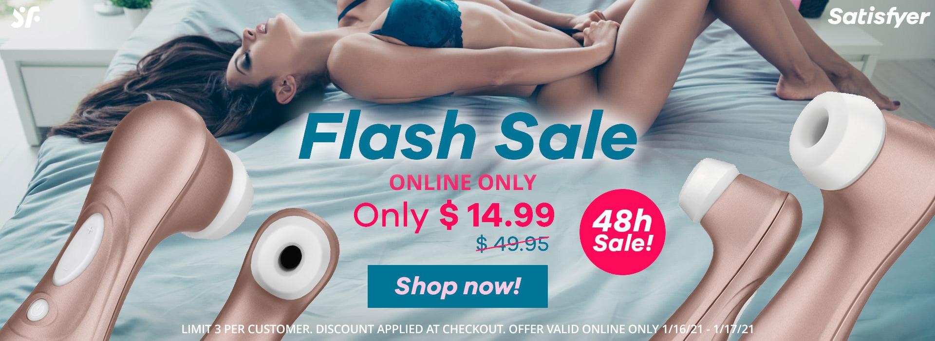 Satisfyer Flash Sale Only $14.99!
