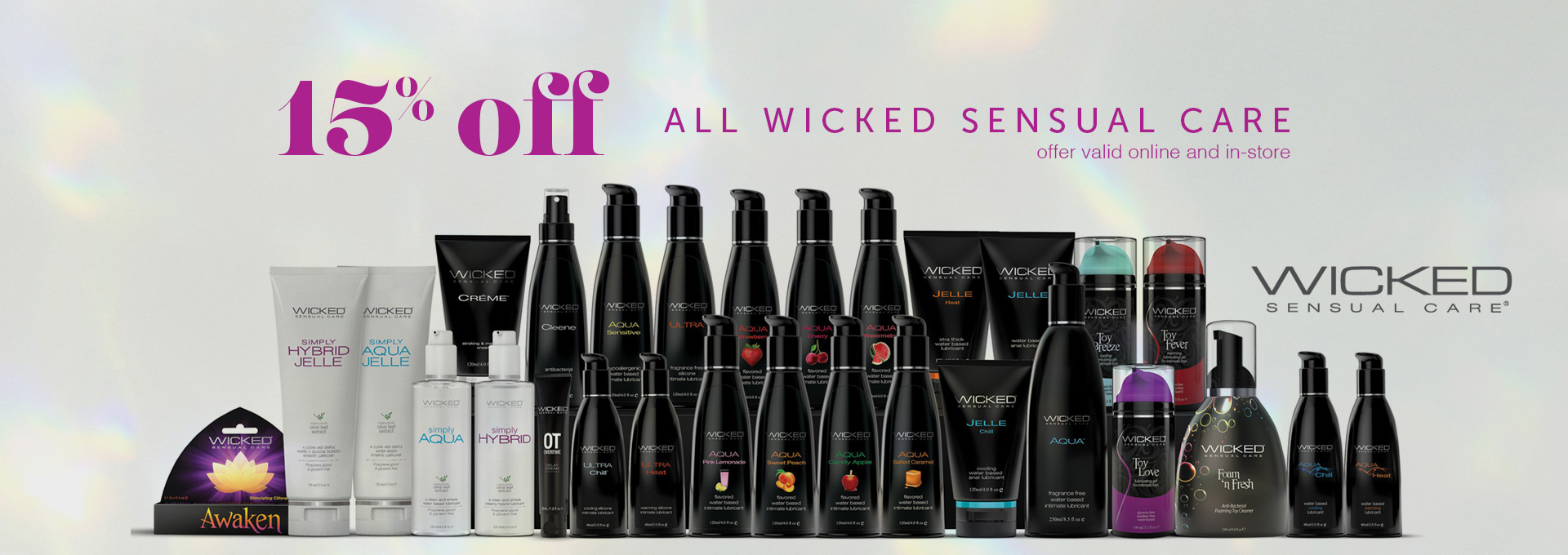 15% OFF All Wicked Sensual Care Products