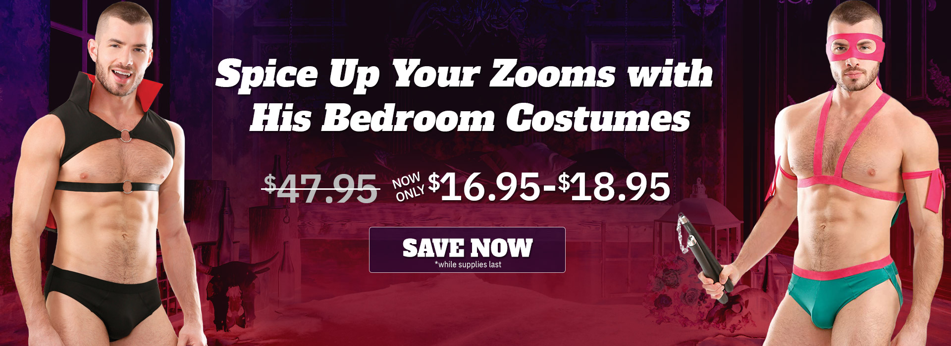 Bedroom Costumes for Men on Sale!