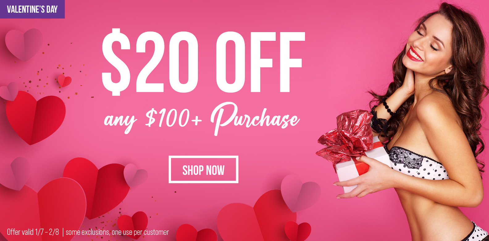 Take $20 off every order over $100!