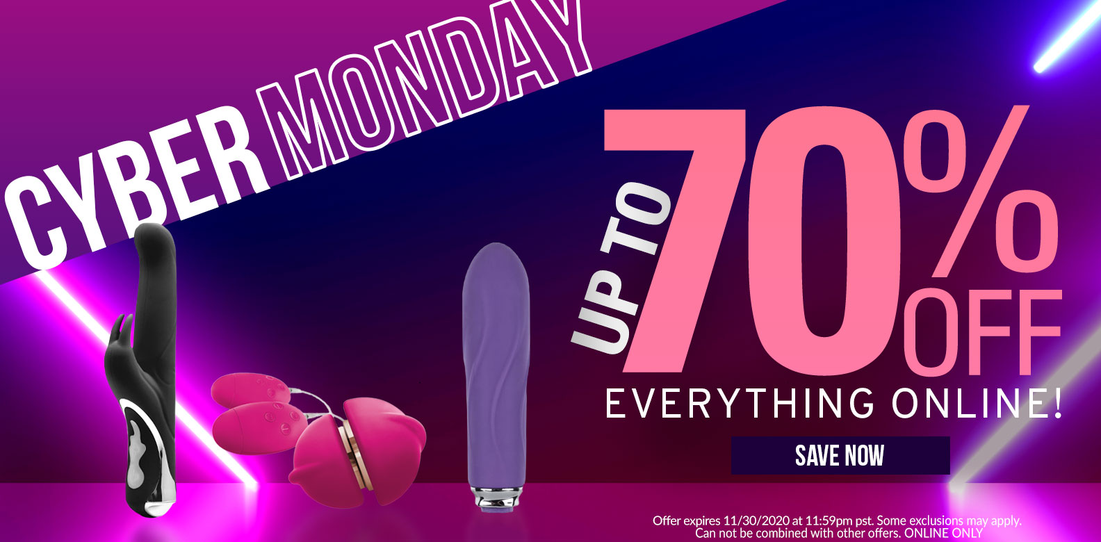 Cyber Monday! Up To 70% Off Everything! Some Exclusions may Apply