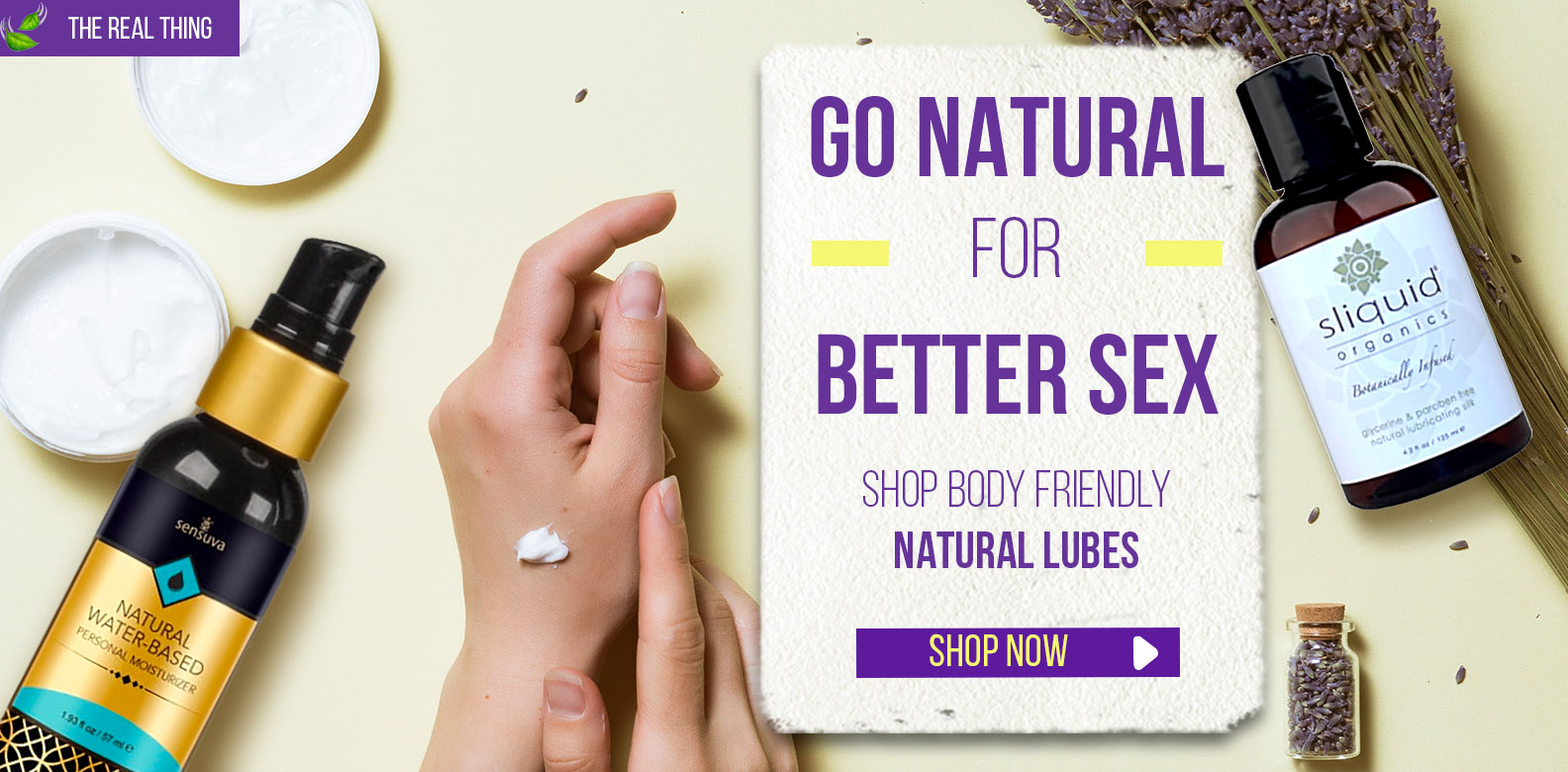 GO Natural For Better Sex- Natural Lubes