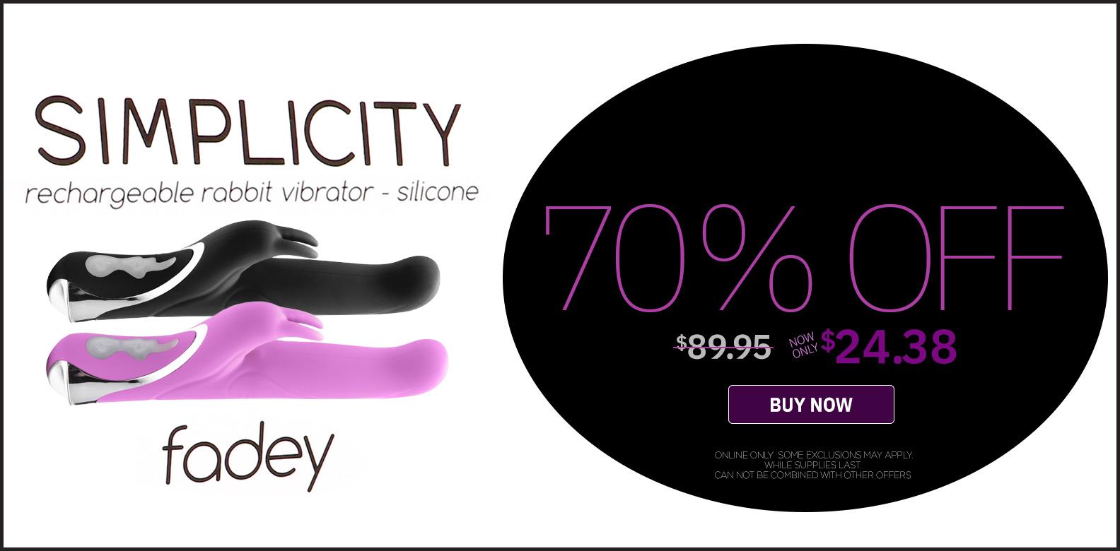 Fadey Rabbit Vibrator Flash Sale was $89.95 now $24.38!!