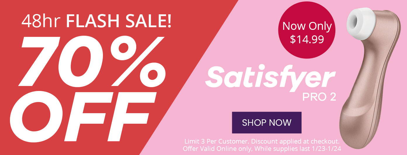 Satisfyer Pro 2 Flash Sale 48 Hours Only $14.95 - 75% Off!