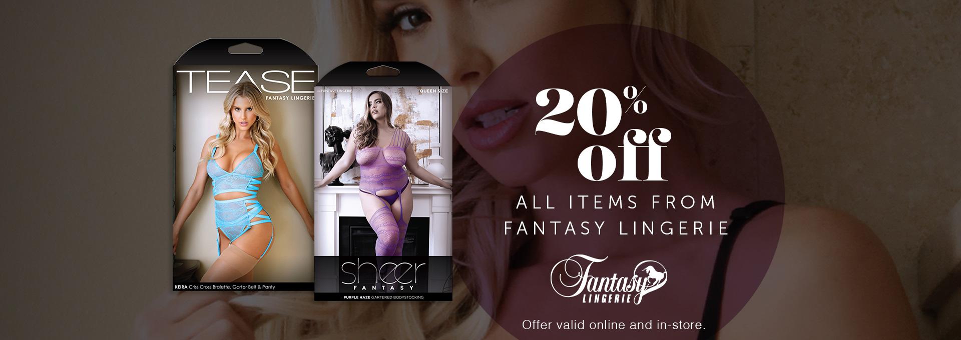 20% OFF All Fantasy Lingerie