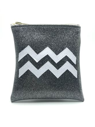 Aquarius Astrology Mini Clutch