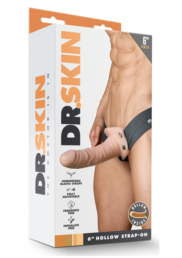 "Dr. Skin - 6"" Hollow Strap On Image 3"