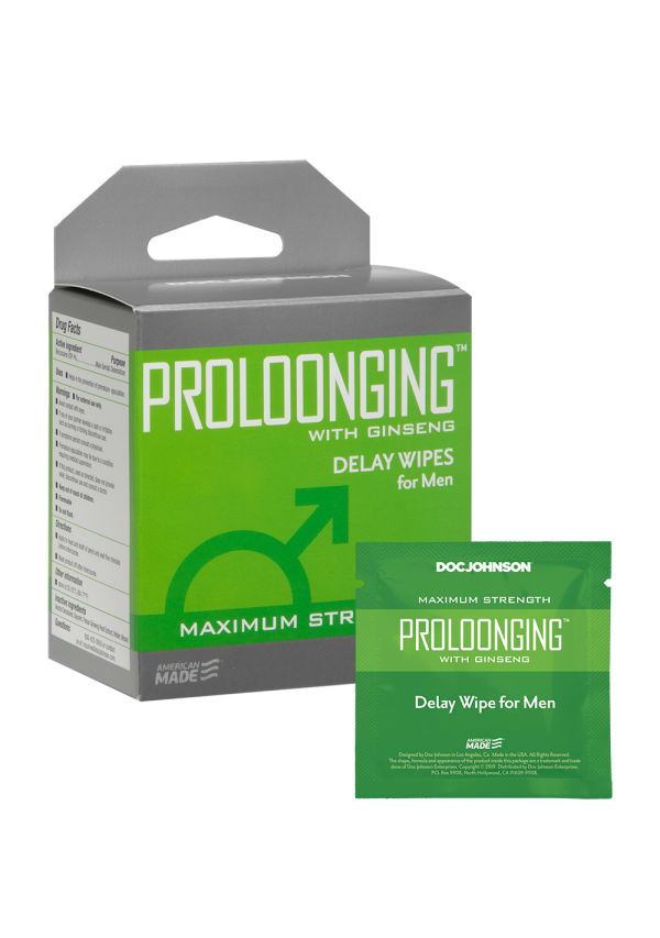Proloonging with Ginseng - Delay Wipes for Men - 10 Pack Image 0