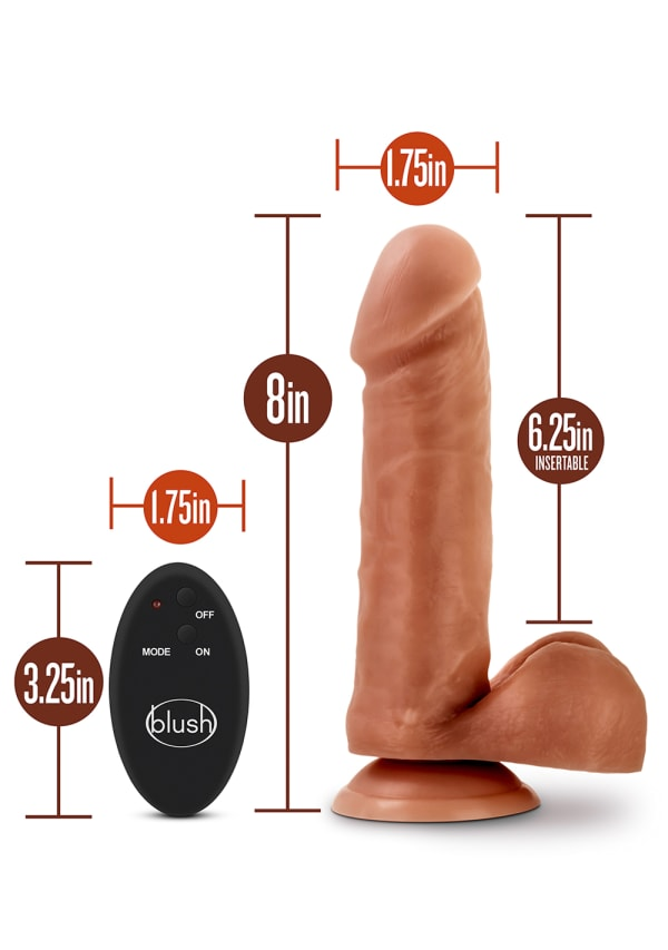 "Dr. Skin - 8"" 10 Function Wireless Remote Dildo Image 4"