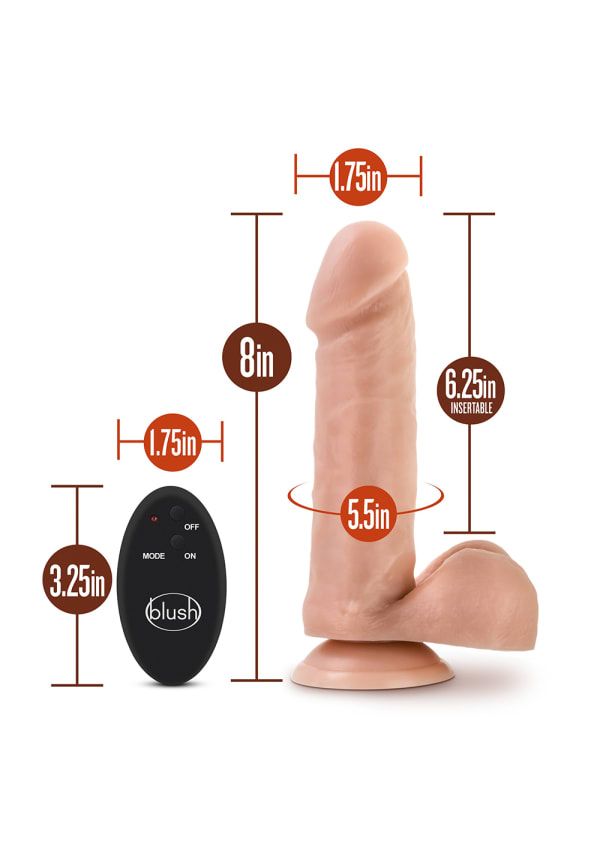 "Dr. Skin - 8"" 10 Function Wireless Remote Dildo Image 7"