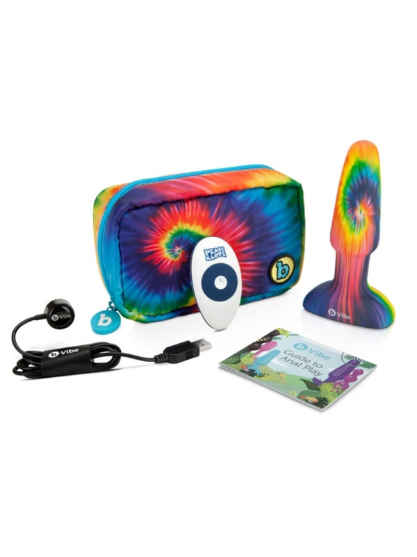 Peace & Love Tie Dye Rimming Plug Image 1