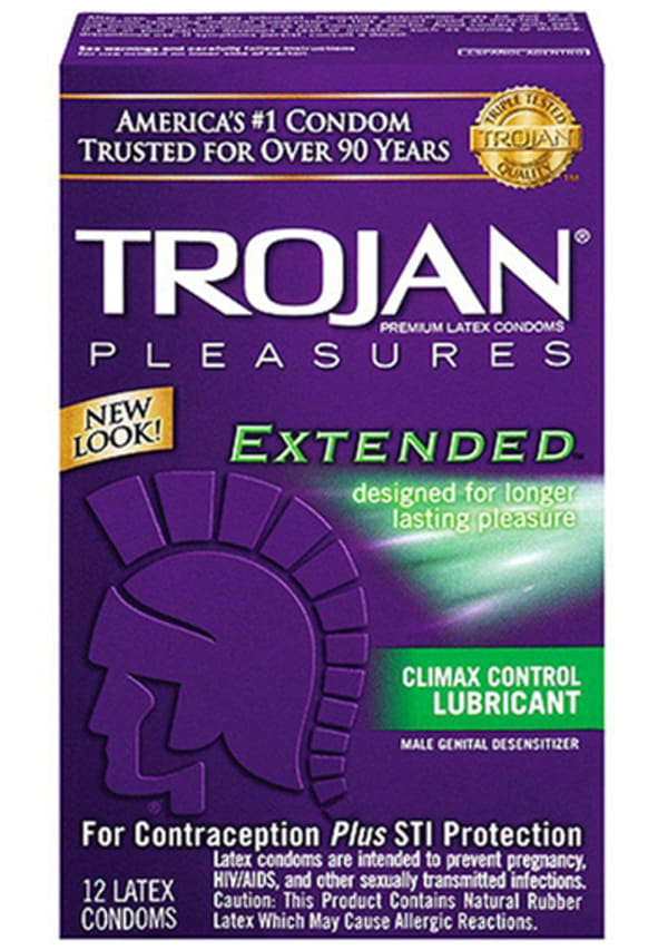 Trojan Extended Climax Control Lubricated Condoms - 12 Pack Image 0