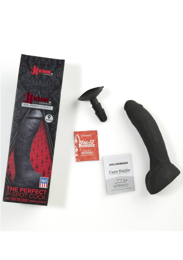 "KINK - The Perfect P-Spot Cock Dual Density ULTRASKYN™ Dong with Vac-U-Lock™ - 9"" Image 2"