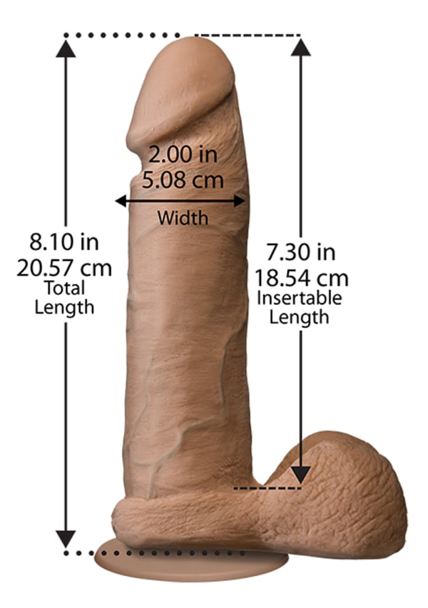 "The Realistic® Cock - With Removable Vac-U-Lock™ Suction Cup - ULTRASKYN™ - 8"" Image 1"