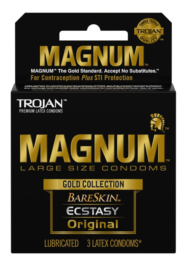 Trojan Magnum Gold Collection Condoms - 3 Pack Image 0