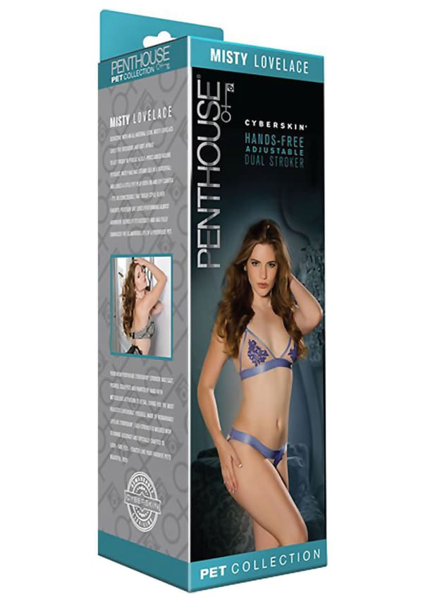 Penthouse Pet Cyberskin Hands-Free Adjustable Dual Stroker - Misty Lovelace Image 4