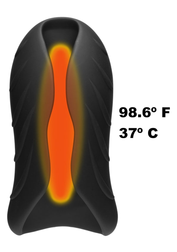 OptiMALE™ - SECONDSKYN™ Silicone Warming Stroker - Vibrating - Rechargeable Image 5