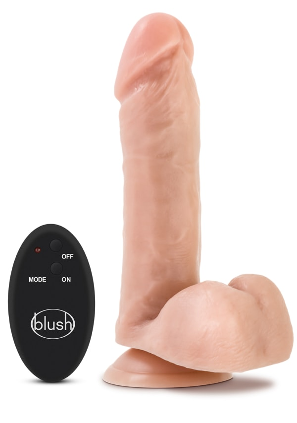 "Silicone Willy's 8"" 10-Function Wireless Remote Silicone Dildo with Balls Image 1"
